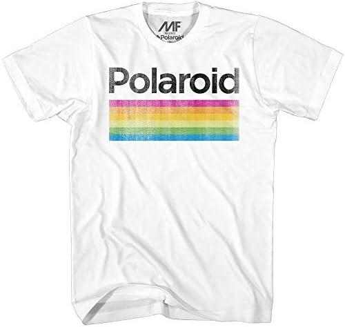 Mad Engine mens Classic Polaroid Logo Vintage Style Rainbow T shirt T Shirt White XX Large US product image