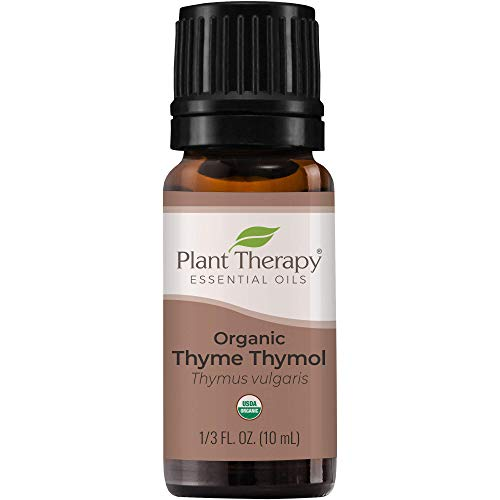 Plant Therapy Thyme Thymol Organic Essential Oil 10 mL (1/3 oz) 100% Pure, Undiluted, Therapeutic Grade