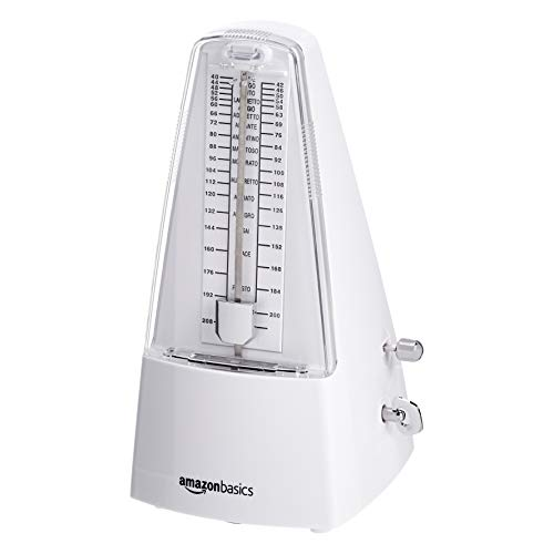AmazonBasics Mechanical Metronome - Steel Movement - White