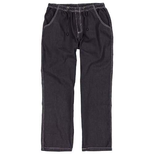 Abraxas Schlupfhose, Jogging- Jeans mit elastischem Bund in Übergrößen bis 12XL, schwarz, Größe:7XL