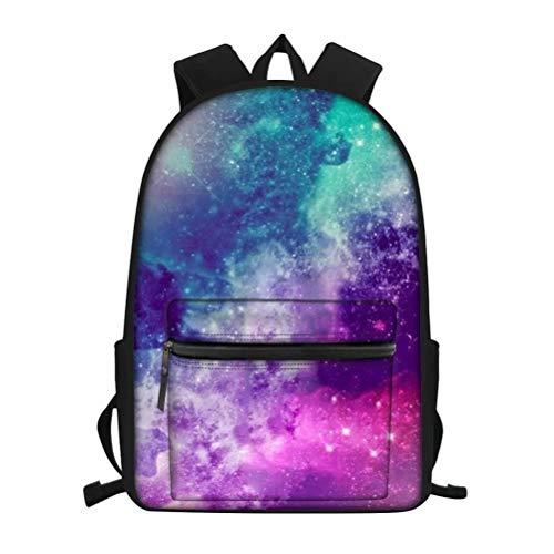 chaqlin Galaxy Space Print Borse a tracolla per bambini Bookbag Back to School Zaino per studenti elementari Medi