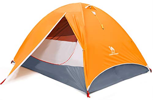 CAMEL CROWN 4 Person Camping Dome Tent with Automatic Waterproof Pop up Hiking Tents,Lightweight Waterproof Portable Backpacking Tent for Outdoor Camping/Hiking