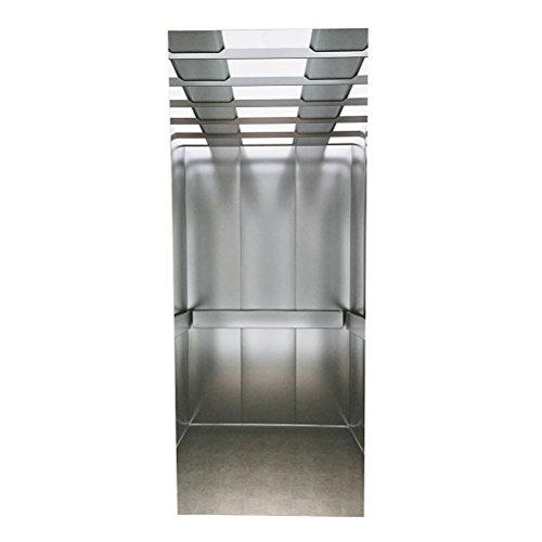 WINOMO 77x200 cm selbstklebend Türtapete 3D Aufzug Fototapete Türaufkleber wasserdichte Türfolie Poster Tapete
