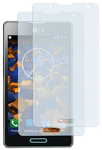 mumbi Schutzfolie kompatibel mit LG Optimus L7 II Folie klar, Bildschirmschutzfolie (2X)