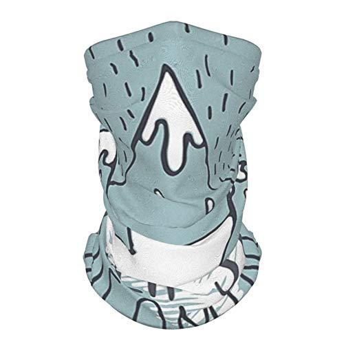 xfff132 - Diadema de seda reutilizable para exteriores, con cita de decoración, picos de montaña, nunca dejar de soñar objetivo, éxito, aspiración, tema de oficina, bufanda, color turquesa