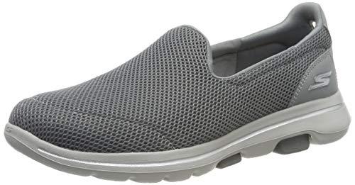 Skechers Damen Go Walk 5 Slip On Sneaker, Grau(Gray Textile/Trim Gry), 39 EU (6 UK)