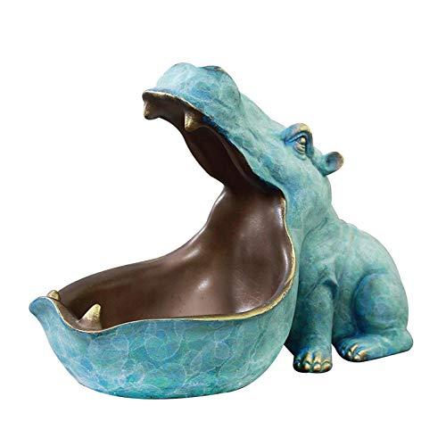 Ippopotamo - Ciotola portaoggetti in resina, grande topolo, ippopotamo, ippopotamo, ippopotamo, scultura, statuetta ippopotamo, per decorazione tavolo e salotto