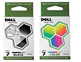 2 Pack Dell Series 7 Ink Cartridge Combo DH828 DH829