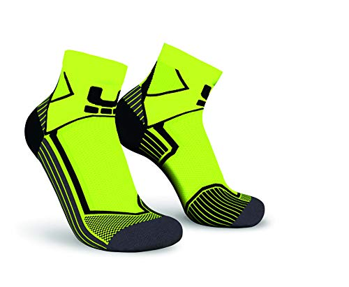 Oxyburn Run Evobright Half Cut Energizer Compression Chaussettes Enfant, Vision/Black, Size 35/38
