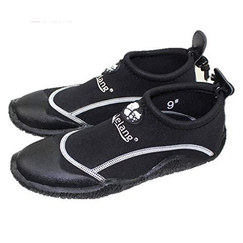 Wading Shoes Upstream Amphibious Chaussures De Plongée À Séchage Rapide for Hommes Et Femmes Snorkeling Chaussures De Natation Outdoor Drifting Shoes Chaussures Beach (Color : Black, Size : 45-46)