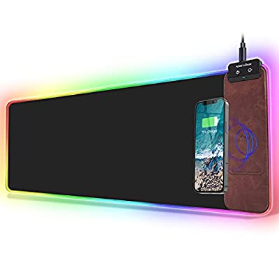 FutureCharger RGB Gaming Mouse Pad, Wireless Ch...