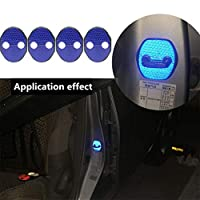4枚反射性プラスチック製の車のドアロックカバーブルーに適していますMitsubishi Lancer EX Galant Lancer