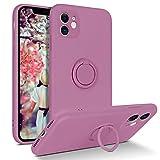 DUEDUE Coque iPhone 11 avec Anneau en Silicone Protection Caméra Souple...