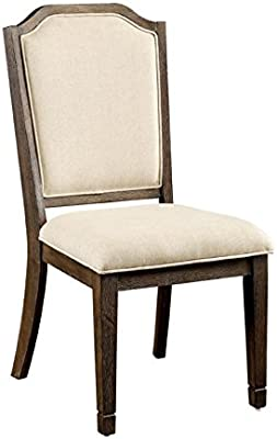 Furniture of America Elliot Dining Chair in Brown (Set of 2)