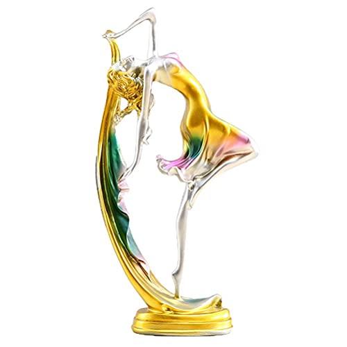 Hopowa Ballet Bailarina de niña Figura Estatua, Moderno Ornamento Bailarina de Resina para la Oficina de Escritorio Estar de la Navidad Regalo de Año Nuevo