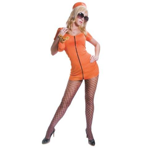 Dress Up America Ensemble de costume de prisonnier orange sexy adulte