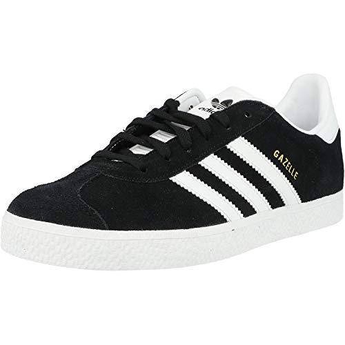 adidas Gazelle J, Baskets Basses Mixte Enfant, Noir (Core Black/Footwear White/Gold Metallic 0), 35.5 EU