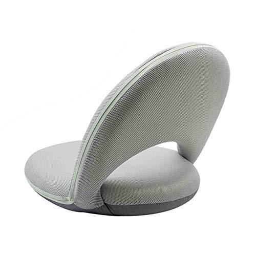 WUTONG Tragbarer Bodensitz mit Verstellbarer Rückenlehne, niedriger Klappstuhl mit wasserdichtem Bezug, ideal als Bettkissen für Innen- und Außenbetten