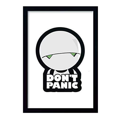 Quadro Don't Panic Marvin c/moldura e vidro
