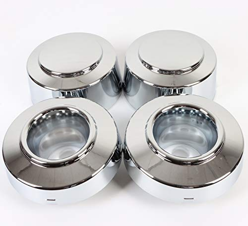 PPCovers Set Fit for 1999-2004 F350 F-350 1-ton Dually Front & Rear Wheel Center Hub Caps