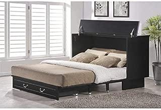 Arason Enterprises Creden-ZzZ Queen Cabinet Bed in Cottage Black