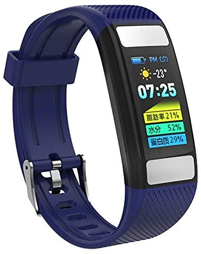 Fitnesstracker, smart-armband met kleurenbeeldscherm, hartslag- en bloeddrukbewaking, bluetooth-stappenteller-sportarmband