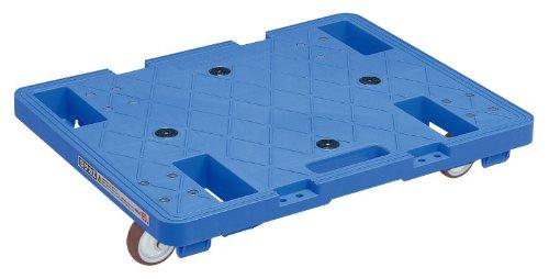 サカエ 台車 サカエキャリースタッキング仕様 ブルー色 600×480×H107mm SC-600UB