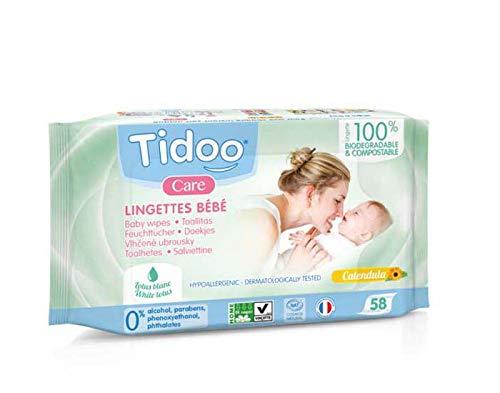 Tidu | Tidoo Composteerbare doekjes - Natuurlijke Parfum | 1 x 58s (VK)