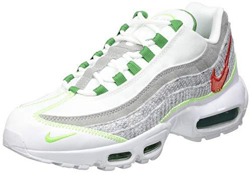 Nike Air MAX 95, Zapatillas para Correr Hombre, White Classic Green Electric Green, 45 EU
