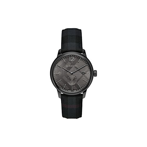 Burberry Herren bu10010Überprüfen gestempelt runden Zifferblatt Armbanduhr, 40mm