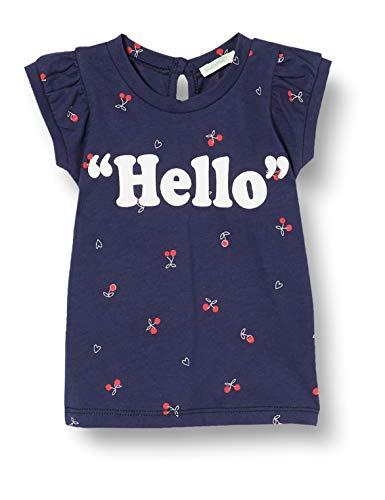 United Colors of Benetton Baby-Mädchen T-Shirt Pullunder, Blau (Blu 61b), 50 (Herstellergröße: 56)