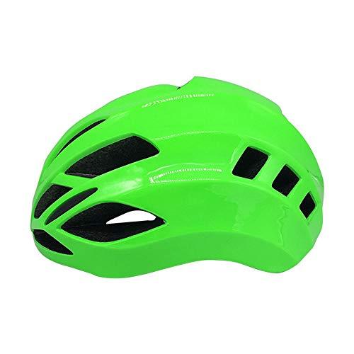 U/D Casco Ligero Adultos de la Bicicleta del Montar a Caballo Hombres Y Mujeres Transpirable Casco con Ajustable (Color : Verde)