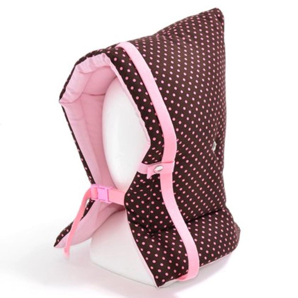 フェードアウト福祉欠如防災頭巾 子供用 水玉(チョコレート地にピンクドット) N4422200