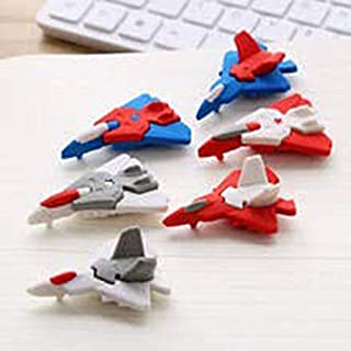 INFInxt Different Shaped Eraser for Return Gift, Kids & Collection (Jet Airplane Shaped 12 pc)