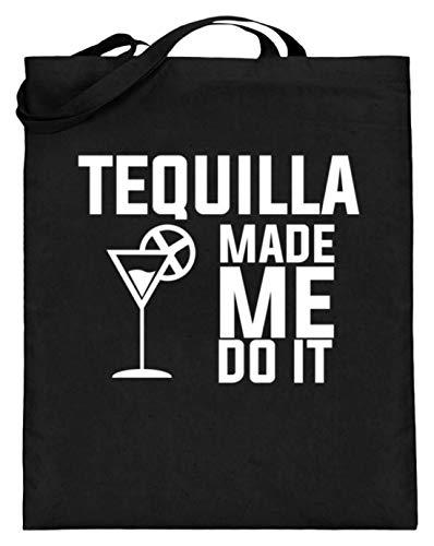 Tequilla Mexico Spaanse feesten zwart vakantie vakantie Let op de Do It Made Me Do It - jute zak (met lange handvatten)