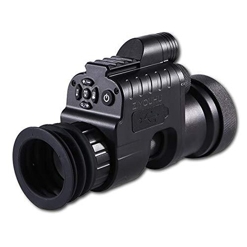 Dispositivo de Visión Nocturna,1080P HD Cámara Digital Día Visión Nocturna Caza, (4X-14X,HD, WiFi, 850 nm, IR + 2 Batería y Cargador),+ adapter 42 mm