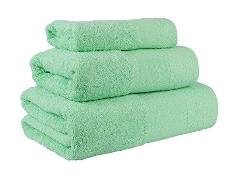 Confort Home M.T Juego de Toallas de baño 3 Piezas Modelo Perlas...
