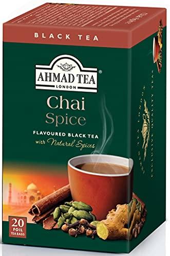 スマートマットライト 富永貿易 アーマッドティー (Ahmad Tea) チャイ スパイス ティーバッグ(20P) [ 英国ブランド 個包装 ] 40g ×3個