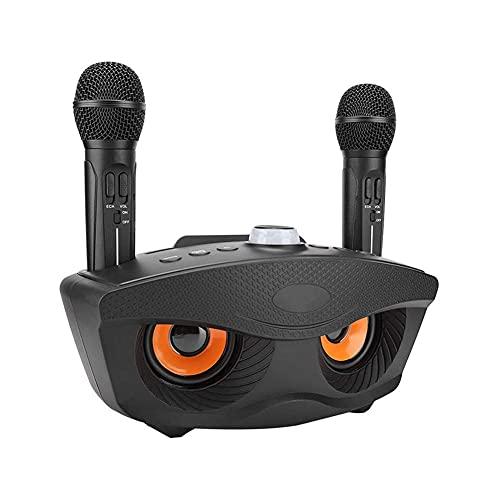 Máquina de karaoke portátil,Sistema de altavoces de karaoke con 2 micrófonos inalámbricos,Máquina de karaoke para la fiesta casera/KTV,Sistema de karaoke compacto