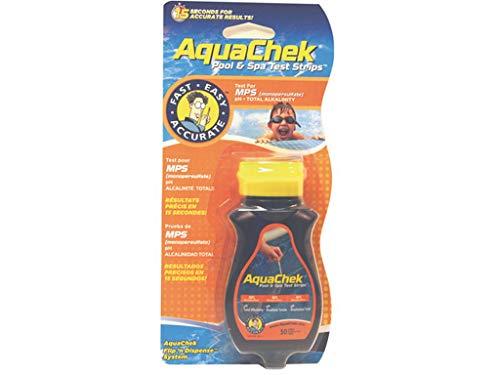 AquaChek - aquaoxy - 50 bandelettes Test pour oxygŠne Orange