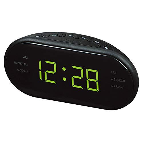 YHYMY Reloj LED Reloj Despertador de Escritorio electrónico Mesa Digital Radio Regalo Suministros de Oficina en casa Enchufe de la UE | Despertadores