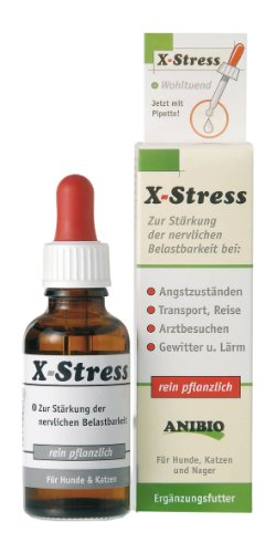 Anibio X-Stress Ergänzungsfutter für Hunde und Katzen, 1er Pack (1 x 30ml)
