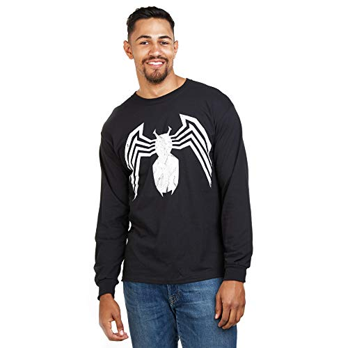 Marvel Avengers Venom Emblem Maglia a Maniche Lunghe, Nero (Black Blk), (Taglia Produttore: Large) Uomo