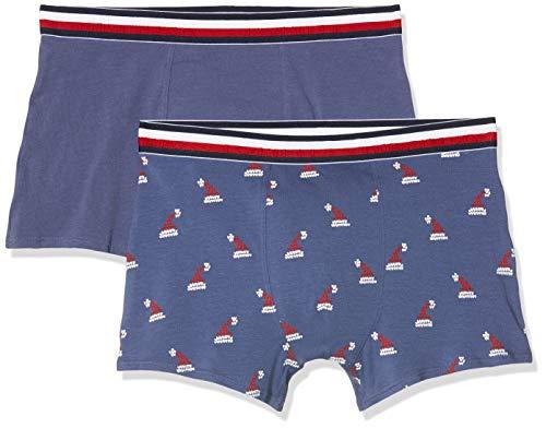 Tommy Hilfiger Jungen 2P Trunk Holiday Hats Badehose, Mehrfarbig (Multi 0XR), (Herstellergröße:10-12) (2er Pack)