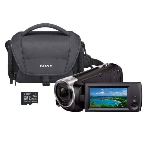 Sony HDR-CX440 8GB Wi-Fi 60p HD Camcorder Bundle w/Carrying Case 16GB SD Card (Certified Refurbished)