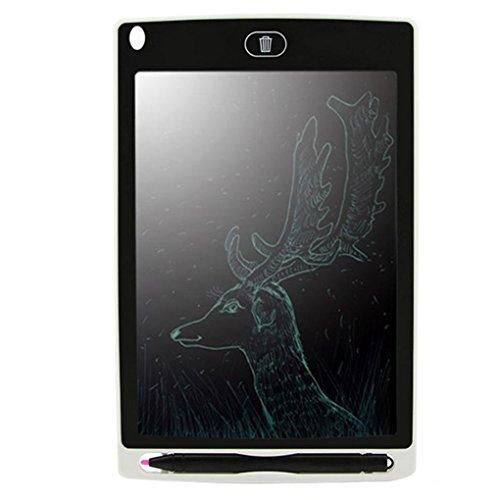 Morza 8.5 Pulgadas LCD Tableta de Dibujo con la Pluma, Regalos LED portátil Escritura Borrado Tableta de Dibujo sin Papel Bloc de Notas Refundido cojín para niños