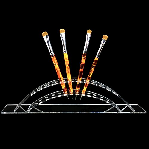 Beauticom (Quantity: 2 Pieces) Rainbow Pen Display Stand 12-Slots Premium Clear Acrylic Holder for Pen, Makeup Brush, E-Cigarette, Vapor, Pencil Display Stand. Premium Quality & Durable