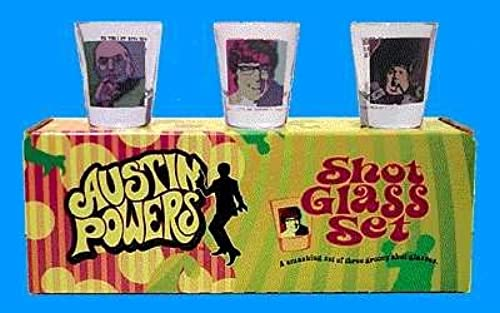 Austin Powers Psychedelic Shot Glass Set by Dark Horse Comics