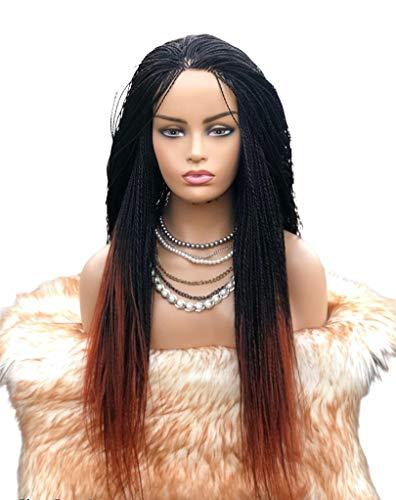 Vuzi Wigs Factory - Braided Wigs, Micro Twists, Hand Braided Wigs, 22 inches, 2x4, Synthetic Hand Braided Wigs, Micro Million twist, Ombre 2/33