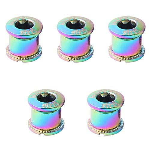 CLISPEED 5 tornillos para rueda de bicicleta, pernos de fija